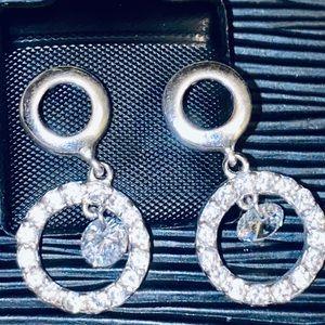 New Sterling 2 TCW White Sapphire Drop Earrings!